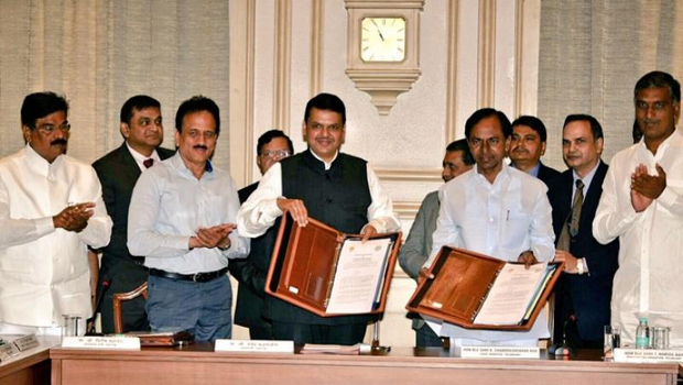 telangana maharashtra govt agreement irrigation projects