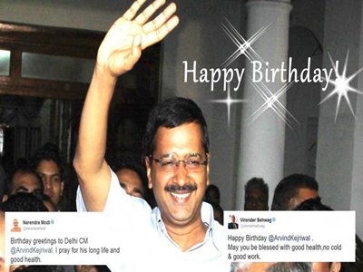 modi birthday wishes kejriwal twitter