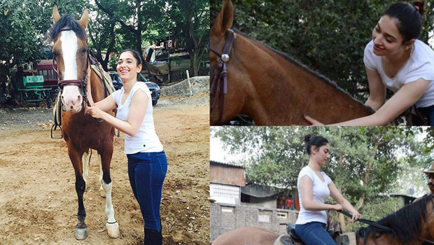 thamanna learn horse riding bahubali movie purpose