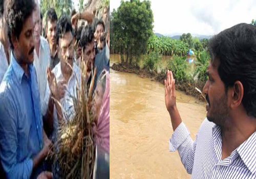 jagan went flood effected people guntur