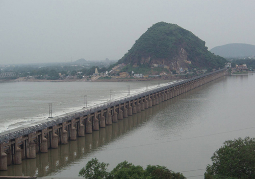 krishna river water mixed sea