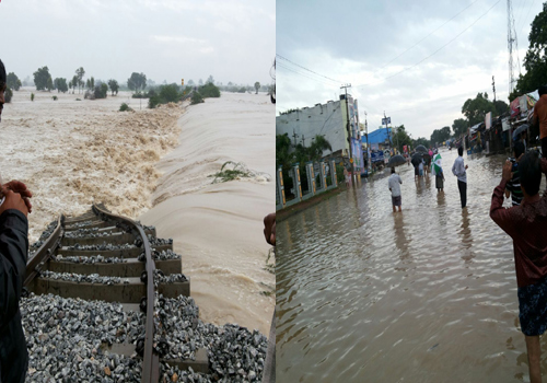 palnadu area heavy rains full floods