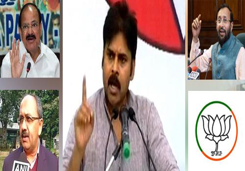 bjp politicians counter attack  pawan kalyan