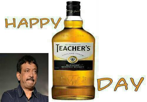 ram gopal varma comment teachers day greeting beer bottle