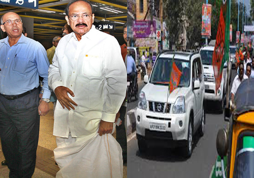 venkaiah naidu received by tdp bjp politicians and opposition parties scold