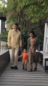 chandra babu playing with grandson