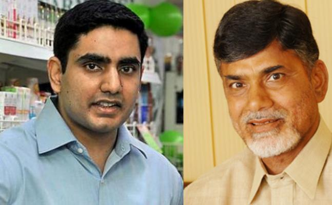 lokesh booked to chandrababu by senior