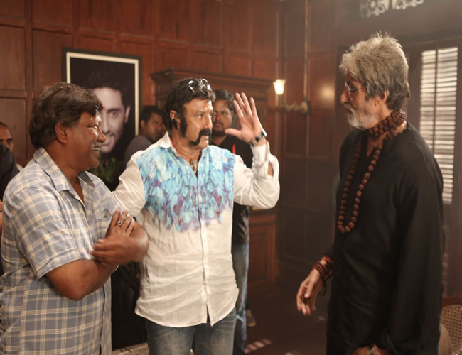 balakrishna in amitabh bachchan sarkar movie sets