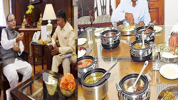 chandrababu food preparing for arun jaitley