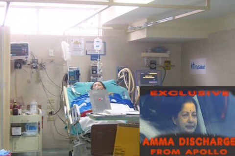 jayalalitha discharge from apollo hospital