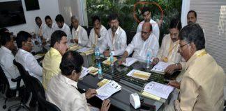 lokesh back bench siting tdp polit bureau meeting