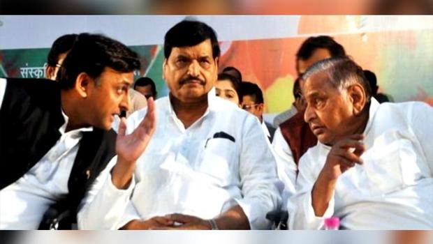 mulayam singh yadav combined to between akhilesh yadav and shivpal yadav