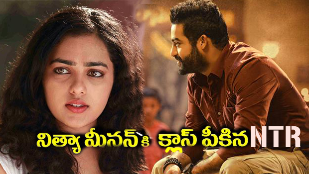 ntr take class to nithya menon on diwali festival