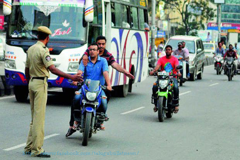 traffic police commissioner jithender said conistable no rights stopping vehicles