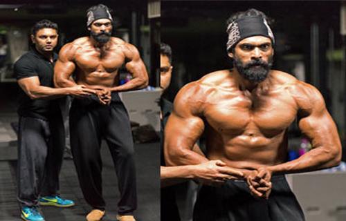 rana body excellent bahubali 2 movie