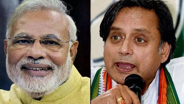 congress leader shashi tharoor said about modi