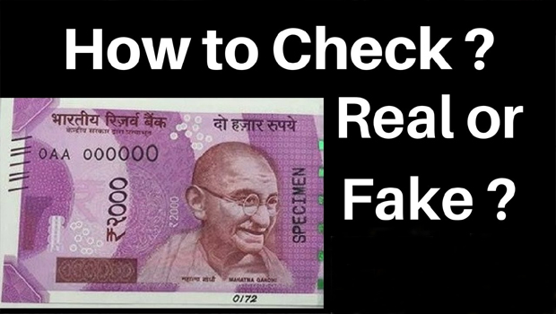 2000 rs note original or duplicate testing process