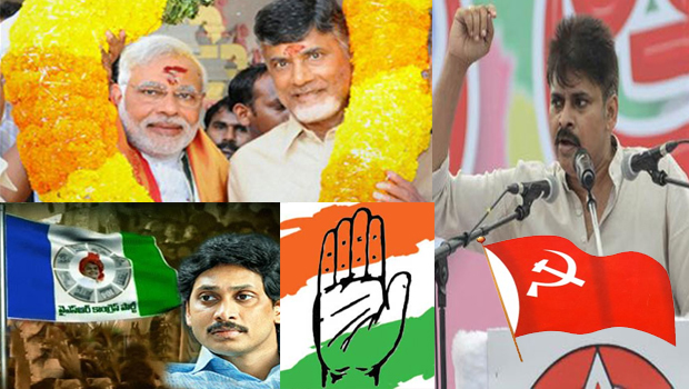 ap state parties participated another party going for 2019 elections details