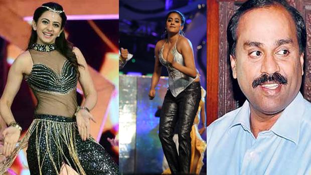 rakul preet singh and priyamani dance show in gali janardhan reddy daughter marriage