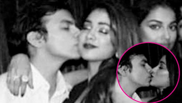 Jhanvi Kapoor kissing boyfriend Shikhar Pahariya