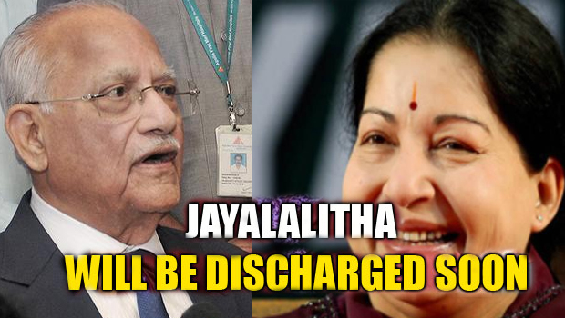 apollo chairman prathap c reddy said jayalalitha will be discharged soon