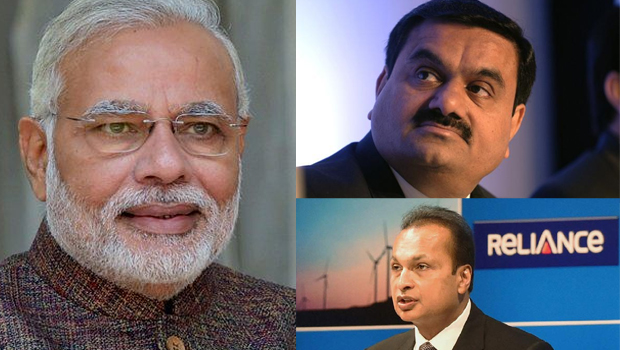 modi shocked to ambani groups and adani groups