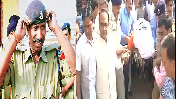 mp cm shivraj singh visits martyr ramashankar yadav's residence