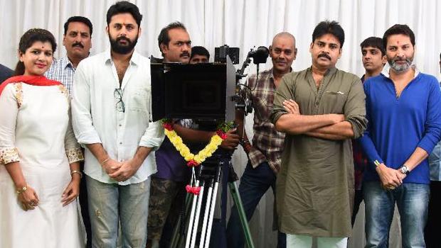Pawan Kalyan trivikram nitin new movie