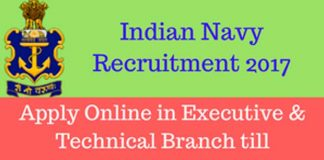 job notification in india navy
