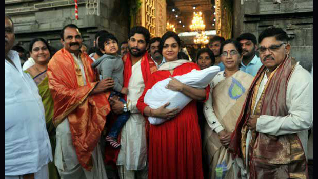 Allu Arjun Family At Tirumala images