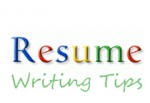 Tips for writing Resume