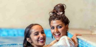 Social Media Viral Photo of Tejaswi and Anisha Embrace in Swimming Pool