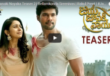 Jai Janaki Nayaka Movie Teaser 2