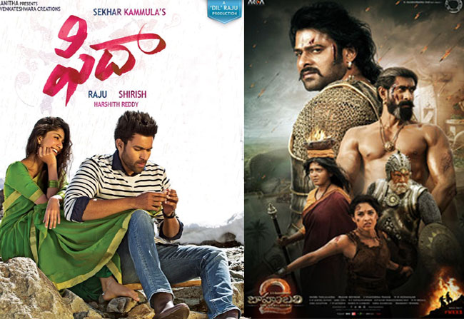 Fidaa movie competes Bahubhali