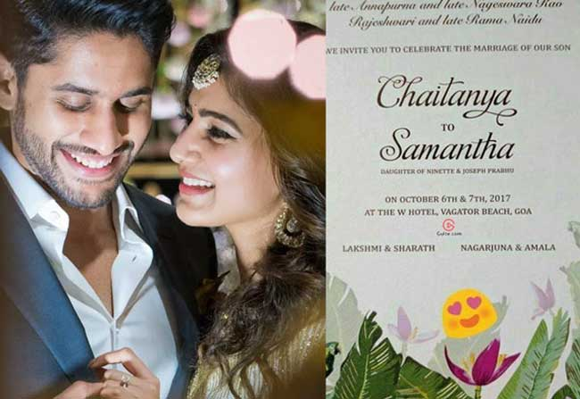 Naga Chaitanya Samantha Wedding Card