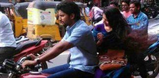 Nani and Sai Pallavi Enjoying Bike Ride in Hanamakonda