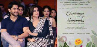 Naga Chaitanya Samantha Marriage Wedding Card