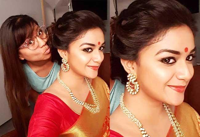 Keerthi Suresh looks like Mahanati Savitri