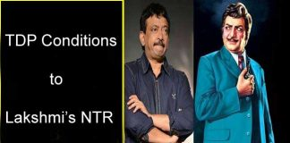 TDP Conditions to Lakshmi's NTR