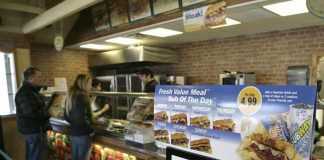 A UK Subway store serves 'thrown' food to customers