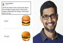 Googles Burger Emoji
