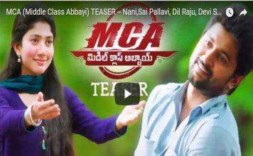 MCA Middle Class Abbai Teaser Rocking