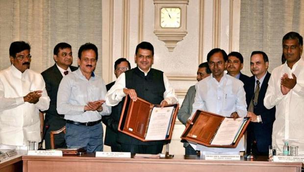 telangana maharashtra govt agreement irrigation projects