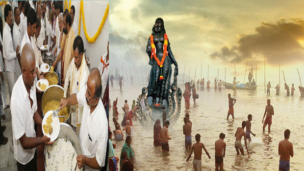 ap pushkaralu free food serving devotees