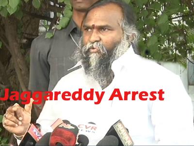 jaggareddy arrest mallanna sagar project issue
