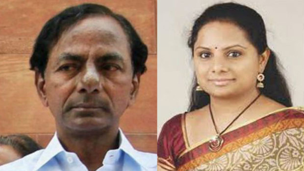kavitha support her father kcr fires congress tdp politician