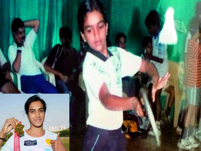 pv sindhu badminton playing history hyderabad  ghmc academy