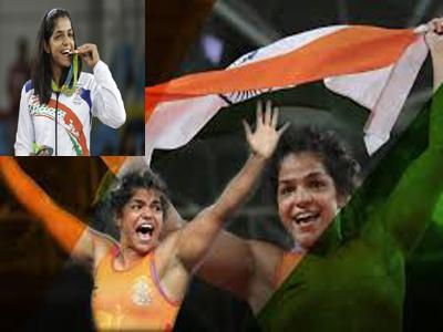 sakshi achieved medal got gifts
