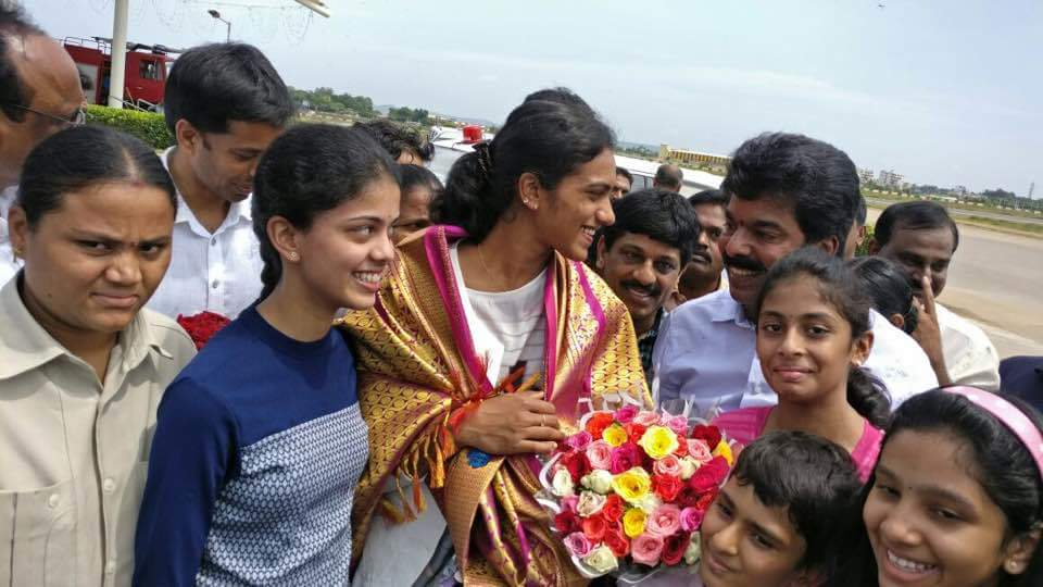 pv sindhu winning spirit journey starting gannavaram airport