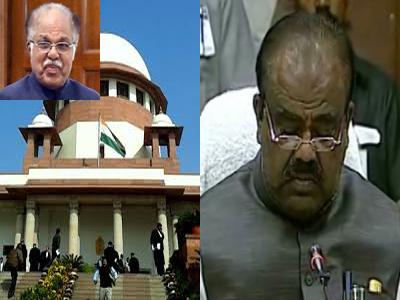 supreme court sending notice telangana speaker madu sudhanaachari